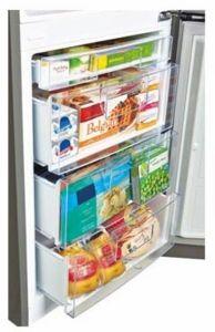 "LBN10551SW LG 24"" Counter Depth Bottom-Freezer Refrigerator with 10.1 cu. ft. Capacity - White"