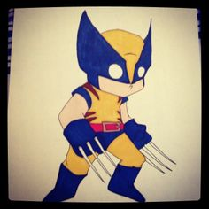 An updated version of an old drawing of Wolverine