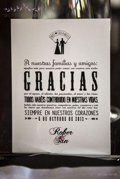 Idea para dar las gracias a vuestros invitados #boda #wedding #decoracion #inspiracion: