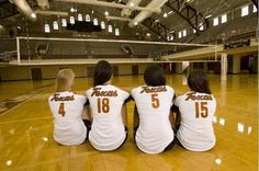 Four years of dedication / Seniors / Texas Volleyball