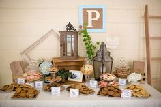 Graduation Party One Smart Cookie ideas Cookie Buffet, Cookie Table, Cookie Bars, Cookie Bar Wedding, Wedding Cookies, Wedding Desserts, Dessert Bars, Dessert Table, Cookie Display