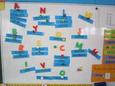 initiales Preschool Names, Name Activities, Name Writing Practice, Petite Section, Ms Gs, Classroom, Teaching, Education, Writing