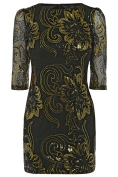 Black and Gold Dress from Next