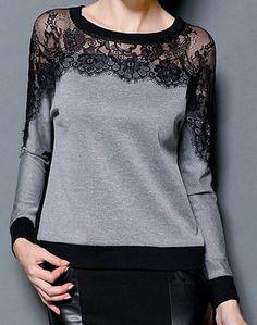 Moda Gola de Jóia Mangas Compridas Emenda de Renda T-Shirt Para Mulher - sapatos… - http://sorihe.com/blusademujer/2018/03/23/moda-gola-de-joia-mangas-compridas-emenda-de-renda-t-shirt-para-mulher-sapatos/ #women'sblouse #blouse #ladiestops #womensshirts #topsforwomen #shirtsforwomen #ladiesblouse #blackblouse #women'sshirts #womenshirt #whiteblouse #blackshirtwomens #longtopsforwomen #long tops #women'sshirtsandblouses #cutetopsforwomen #shirtsandblouses #dressytops #tunictopsfor women…