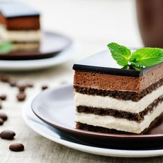 Opera Cake - I made this for my husband's birthday in 2016. It was a great recipe. Lots of components and time consuming but very delicious. The picture shown here is nothing like the actual cake. I don't think they used the correct photo because I followed directions on assembly and there are two ganache layers and some other differences.