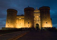 "Castel Nuovo (Italian: ""New Castle""), often called Maschio Angioino, is a medieval castle in the city of Naples, southern Italy. It is the main symbol of the architecture of the city, and has been expanded or renovated several times since it was first begun in 1279."