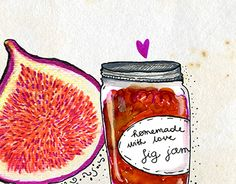 Illustrated recipes I created for They Draw & Cook. Food Illustrations, Illustration Art, Food Menu, Jar, Drawing, Vegetables, Cooking, Recipes, Kitchen