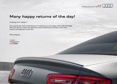 #Audi-India : Birthday Card creative