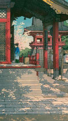 Japanese Art is Subarashii Japanese Art Prints, Japanese Artwork, Japanese Painting, Japanese Aesthetic, Aesthetic Art, Japon Illustration, Anime Scenery Wallpaper, Japan Art, Animes Wallpapers