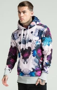 SikSilk Overhead Hoodie - Peonie Ink Light