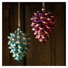 Ombre Glass Pinecone Ornament