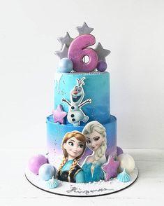 Frozen Birthday Cake, 2nd Birthday, Sirenita Cake, Cupcake Cakes, Cupcakes, Cake Name, Cakes And More, Fondant, Cake Decorating
