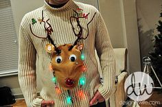 Make your own ugly Christmas sweater. Reindeer.