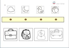 Kleef de juiste boekentas onder de juiste kapstok niv. 2de kl  ( Origineel…