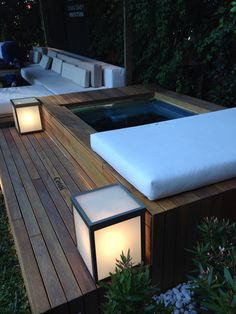 New pergola terrasse jacuzzi ideas Hot Tub Backyard, Small Backyard Pools, Backyard Patio, Backyard Landscaping, Hot Tub Garden, Small Pools, Pool Decks, Backyard Ideas, Jacuzzi Outdoor