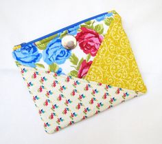 Patchwork Zipper Pouch  Modern romance. I love this pouch for makeup!  Get this pouch here: https://www.etsy.com/listing/258365640/patchwork-zipper-pouch?ref=shop_home_active_4&ga_search_query=floral