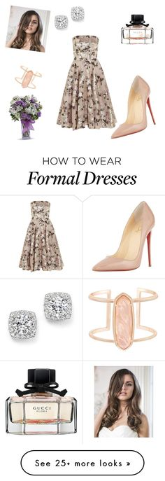 """Formal"" by theamazingmind on Polyvore featuring Alexander McQueen, Kendra Scott, Gucci, Bloomingdale's and Christian Louboutin"