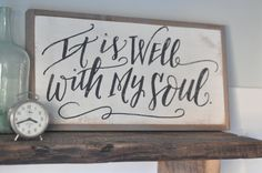 It is well with my soul wooden sign by BetweenYouAndMeSigns