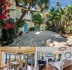 This Spanish-style listing has expansive views of the beaches, coastline, mountains and city. It also features 6 bedrooms, including a 1 bedroom apartment with its own entry and a grassy backyard with direct access to a nature trail.
