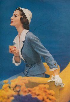 Fashion photography by Karen Radkai, March 1957.
