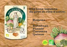 Simplement Rutabaga, Panais, Carottes & Quinoa...