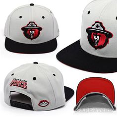 d24f4f84483 Northern Force Football Team Snapback Hat - Grey w  Black Visor  amp  Red  Under