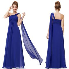 9816  Line One Shoulder Ruffles Padded Long Evening Dress 2015 new-in Evening Dresses from Weddings & Events on Aliexpress.com | Alibaba Group