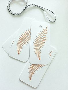 Set of 6 handprinted tags by MaleCodziennosci on Etsy