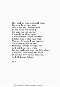 Thunder and Lightning. www.thepoeticunderground.com #poem #poetry