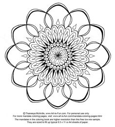 Free Mandala Design to Print and Color!  http://www.art-is-fun.com/free-mandala-designs-to-print.html#