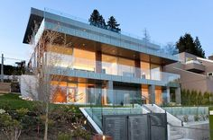 This contemporary 3,745 square foot, four bedroom, six bath, three level residence designed by Mehran Mansouri is located in Vancouver, Canada.
