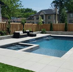 - When it comes to deciding to bring a pool into your yard, there is no bigger decision to make then the design of it. The design of the pool not only a. landscaping midwest Luxurious Pool Design Ideas For Your Home Backyard Pool Landscaping, Backyard Pool Designs, Small Backyard Landscaping, Landscaping Ideas, Patio Ideas, Back Yard Pool Ideas, Backyard Ideas, Garden Ideas, Swimming Pools Backyard