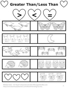 Kissing Hand: In this NO PREP packet, your students will work on counting, addition, subtraction, greater than/less than, time, money, sequencing, patterns, place value and skip counting. Answer keys are also included. These are simple worksheets with minimal distractions on each page, which works well for preschool, kindergarten, and students with special needs. In addition, they make a great multi-disciplinary supplement to your Kissing Hand unit.
