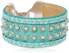 Streets Ahead Braided Turquoise Colored  Cuff Bracelet