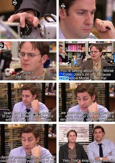 I miss this. Dwight's endless torture… Favorite people ever