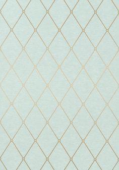 Thibaut Richmond Vernon - Metallic Gold On Aqua - Aqua Wallpaper, Chic Wallpaper, Pattern Wallpaper, Wallpaper Backgrounds, Tile Patterns, Textures Patterns, Gold Pattern, Pattern Design, 3d Home