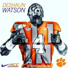 Clemson Tigers Deshaun Watson is ready for Monday Nite....