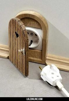 Mouse door power plug#funny #lol #lolzonline