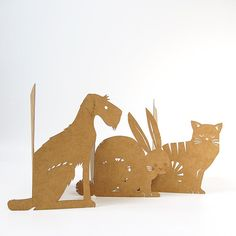 Domestic Animals lasercut cards - Set of 3
