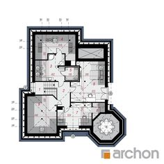Projekt domu Dom pod juką 4 - ARCHON+ Sims Ideas, Floor Plans, Design, Home, Design Comics, Floor Plan Drawing, House Floor Plans