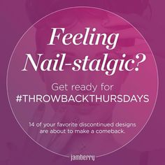 Every 2 weeks we will be bringing back 2 of your favorite wraps! #ThrowbackThursday  Jammingmanis.jamberrynails.net
