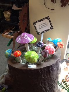 Shroomyz are a fun and colorful addition to your garden or flowerpot.   $5.25-$21.95