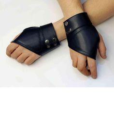 Перчатки кожаные без пальце