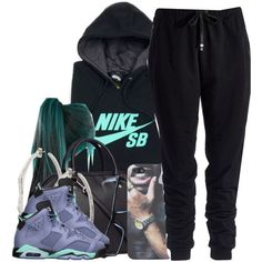 A fashion look from September 2014 featuring NIKE hoodies, Two by Vince Camuto activewear pants and H&M shoulder bags. Browse and shop related looks.