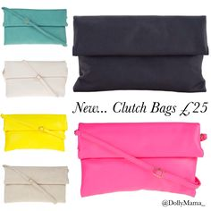 NEW... Clutch Bags £25