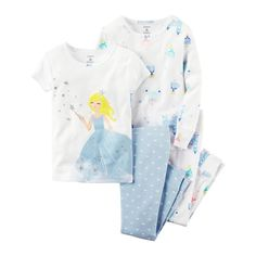 0fad88decc17 Just One You  Made by Carter s  Toddler Girls  Mermaid Pajamas ...
