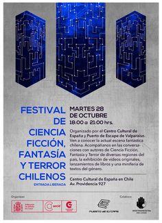 ¡Mañana!  A las 18:00 y 21:00 horas del martes 28 de octubre se realizará el Festival de Ciencia Ficción, Fantasía y Terror chileno en el Centro Cultural España #cultura #festival #panorama #estudiantes #umayor