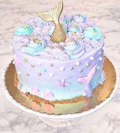 Trendy Birthday Cake Girls Little Mermaids Ideas Little Mermaid Cakes, Mermaid Birthday Cakes, Little Mermaid Birthday, Little Mermaid Parties, Birthday Cake Girls, The Little Mermaid, Mermaid Tail Cake, Birthday Ideas, 8th Birthday