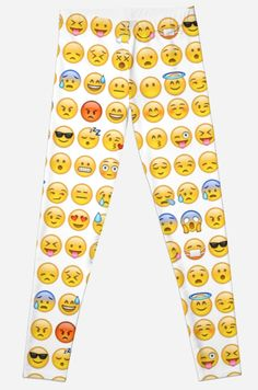 """EMOJI"" Lycra Leggings by forbiddngoods on Redbubble."