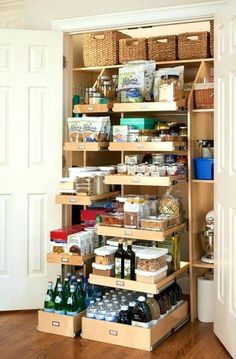 Kitchen Pantry Cabinet With Drawers Kitchen Pantry Design, Kitchen Pantry Cabinets, Diy Kitchen, Kitchen Decor, Kitchen Ideas, Kitchen Drawers, Pantry Ideas, Kitchen Inspiration, Kitchen Designs